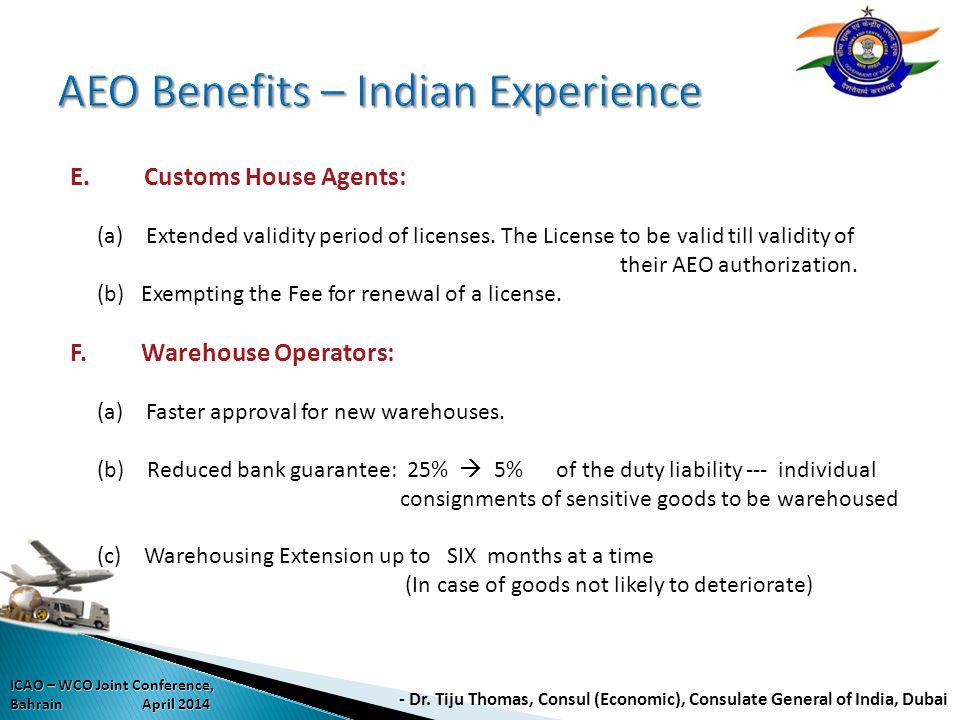 AEO Benefits – Indian Experience