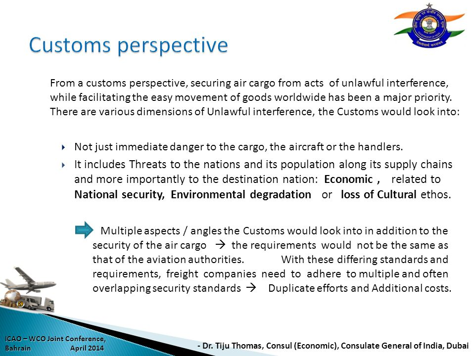 Customs perspective