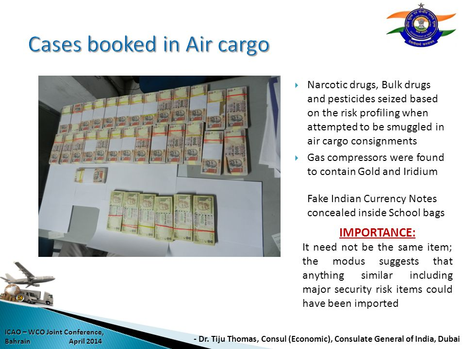 Cases booked in Air cargo