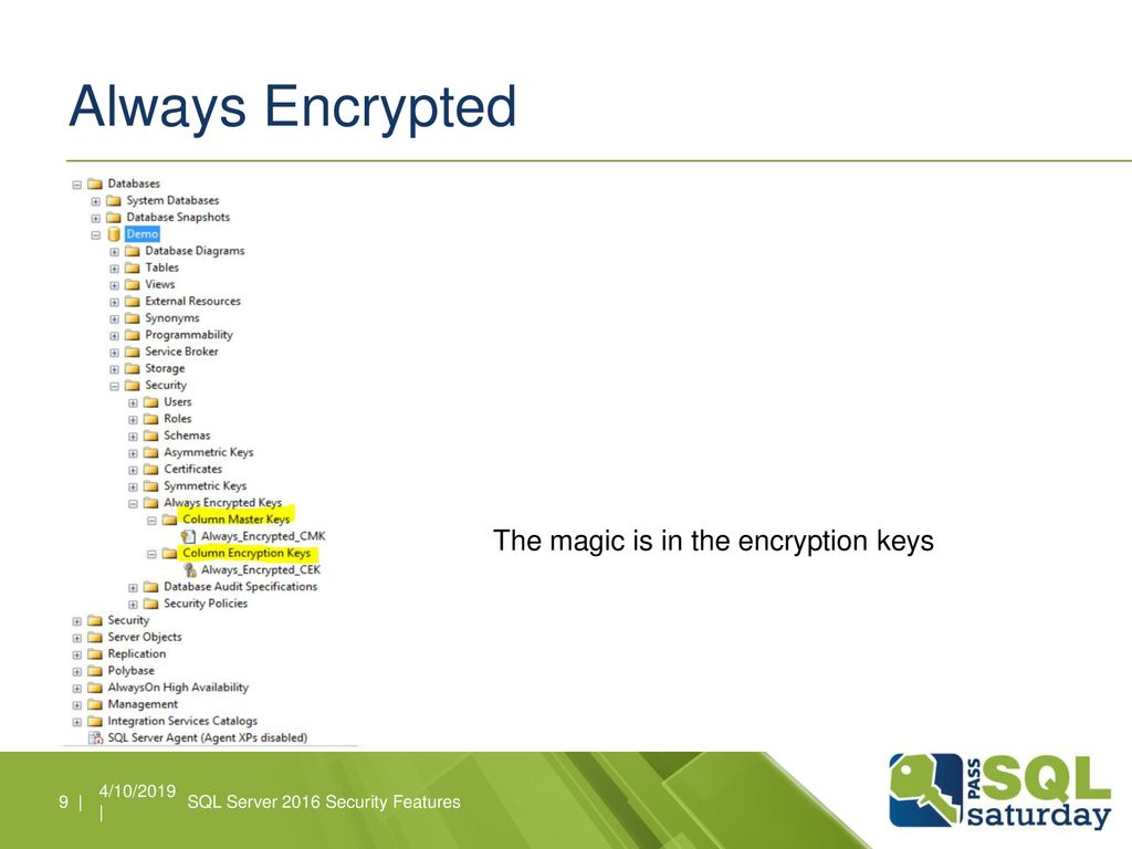 SQL Server 2016 Security Features - ppt download