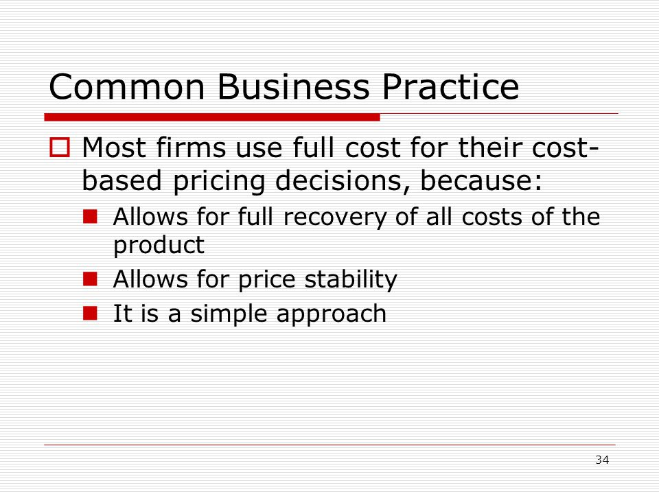 Common Business Practice