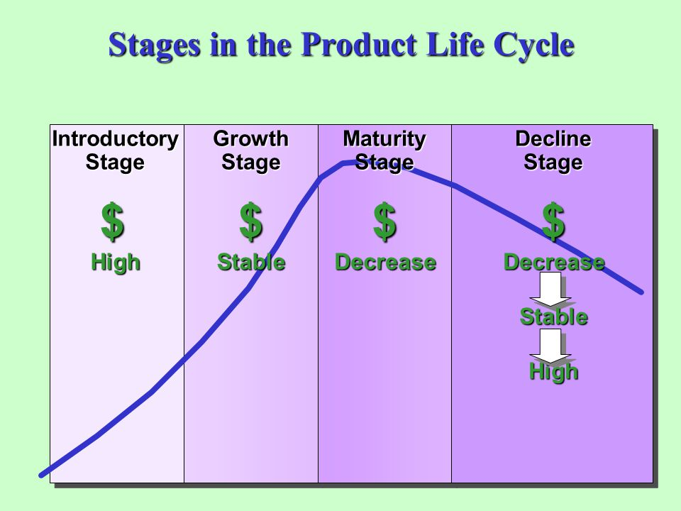 Stages in the Product Life Cycle