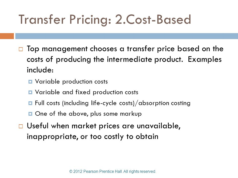 Transfer Pricing: 2.Cost-Based