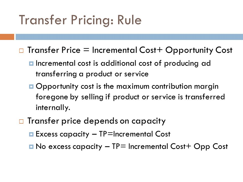 Transfer Pricing: Rule