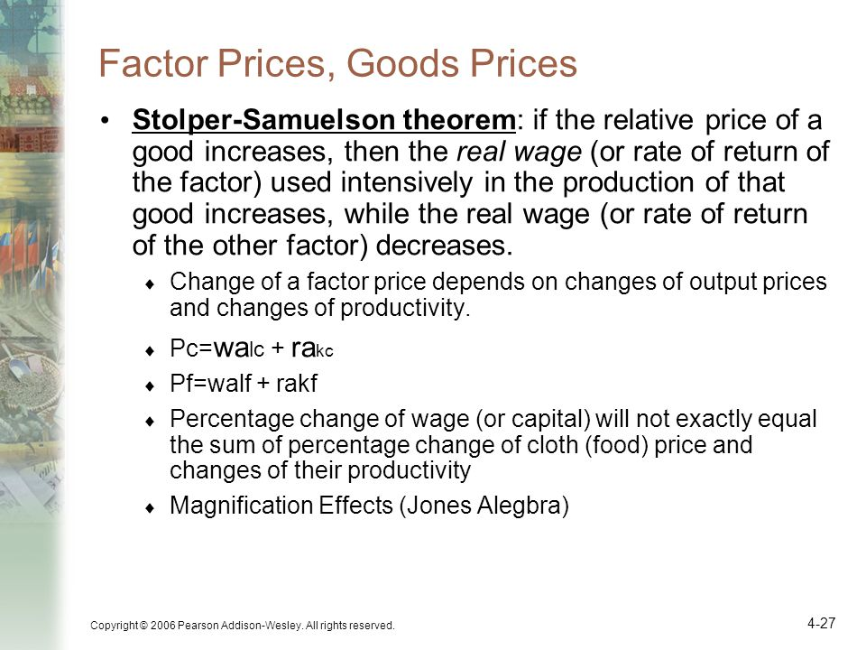 Factor Prices, Goods Prices