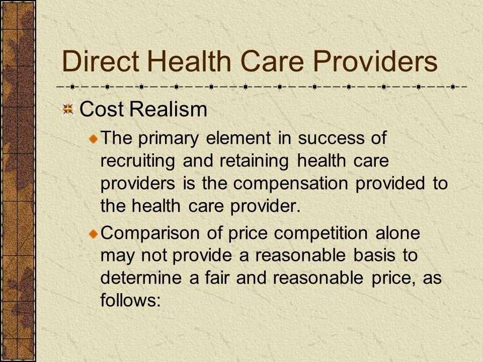 Direct Health Care Providers