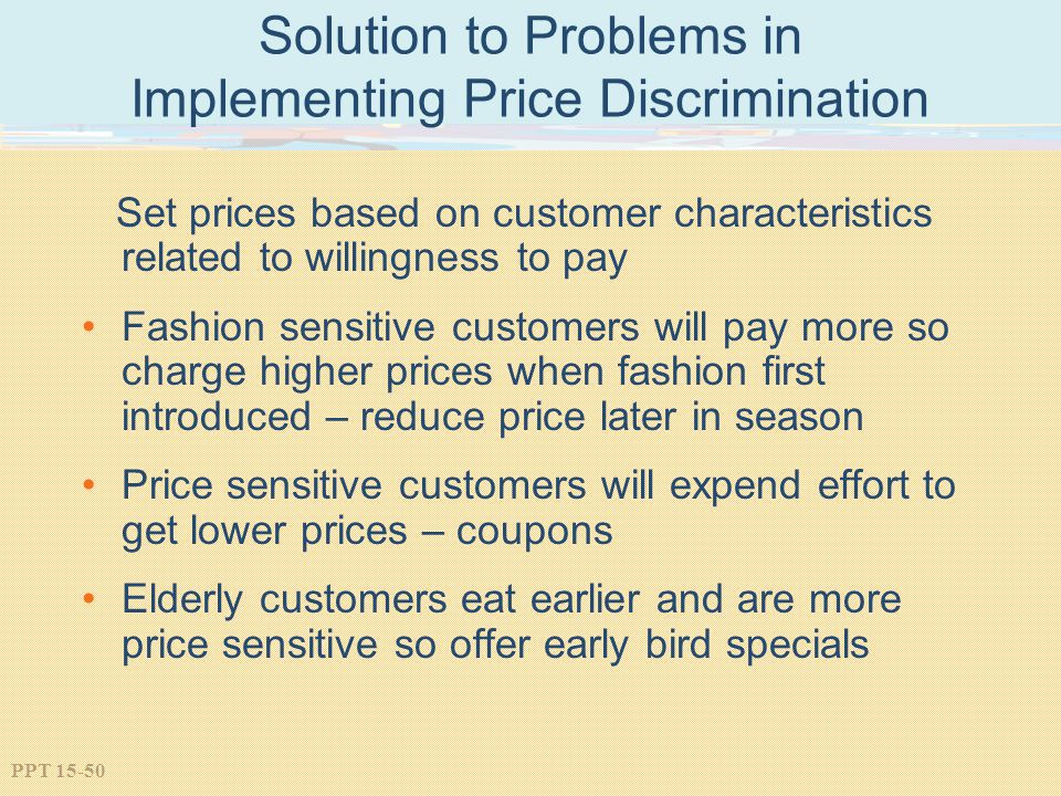 Solution to Problems in Implementing Price Discrimination