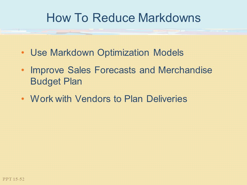 How To Reduce Markdowns