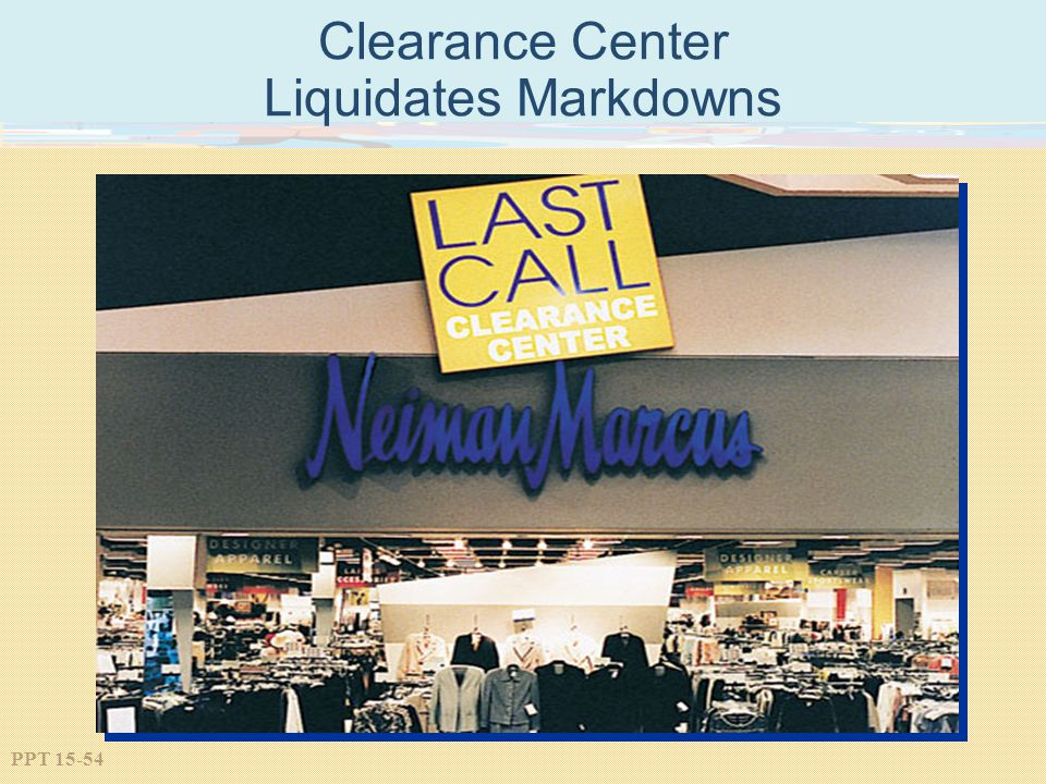 Clearance Center Liquidates Markdowns
