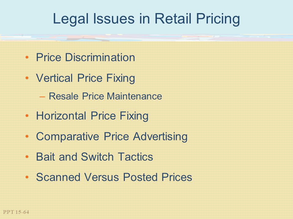 Legal Issues in Retail Pricing