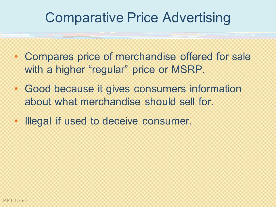 Comparative Price Advertising