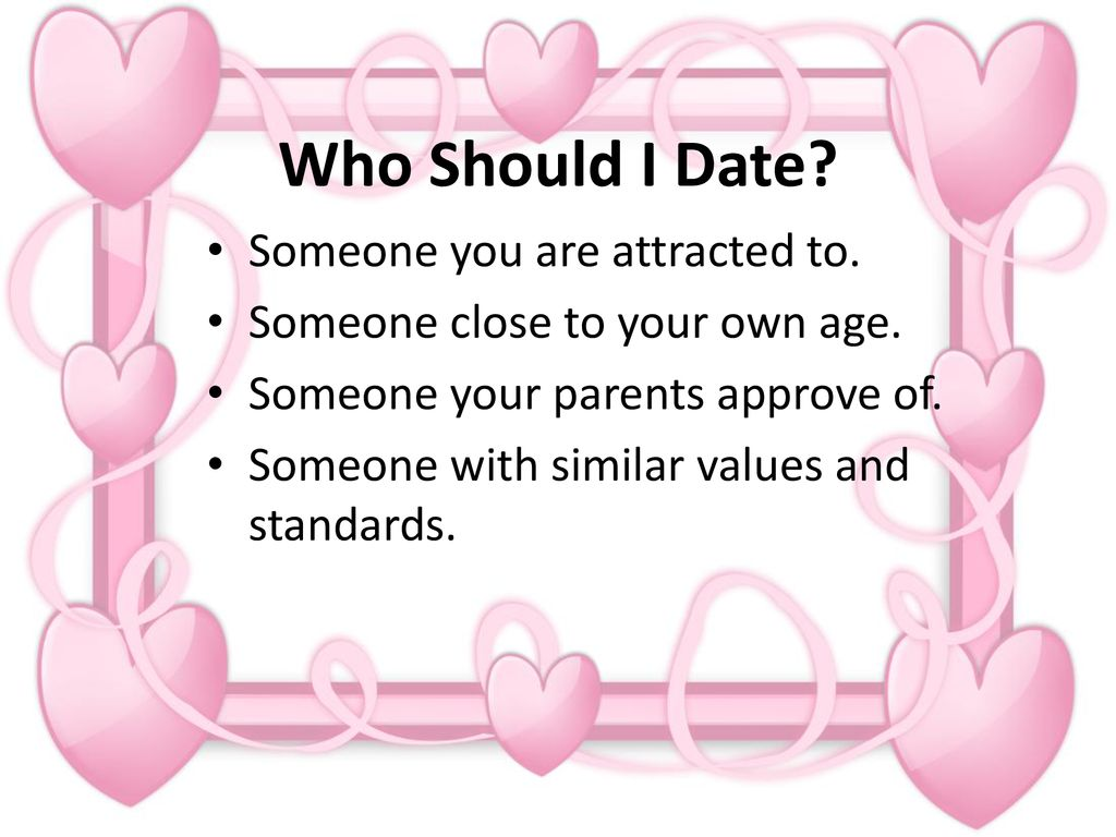dating a guy your own age
