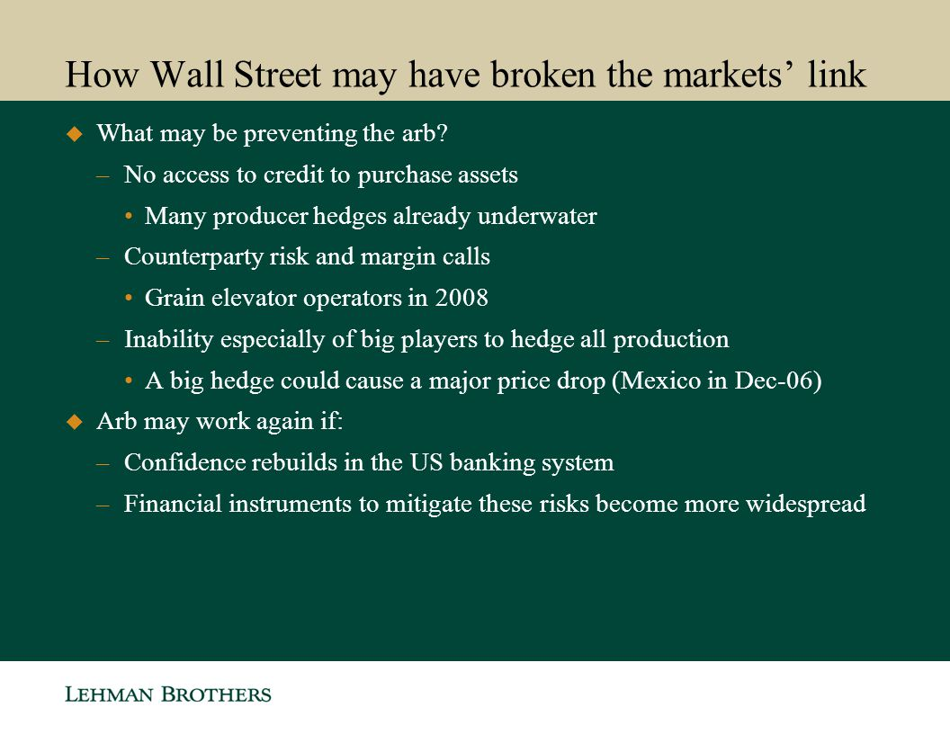 How Wall Street may have broken the markets' link