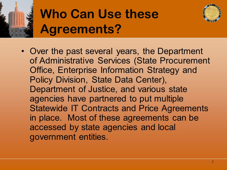 Who Can Use these Agreements