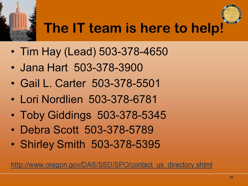 The IT team is here to help!