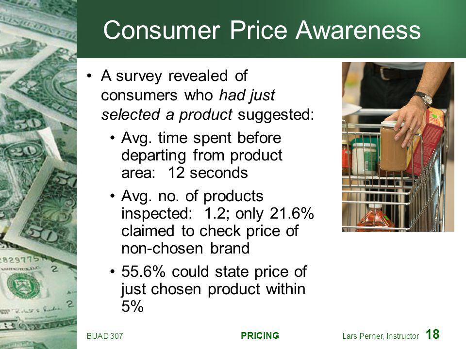 Consumer Price Awareness