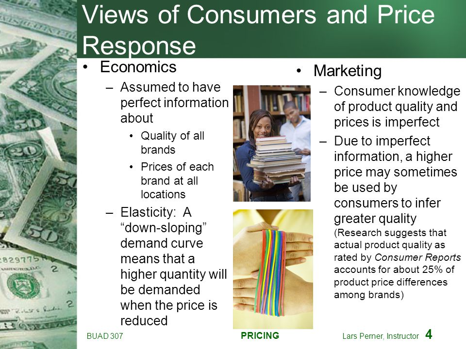 Views of Consumers and Price Response