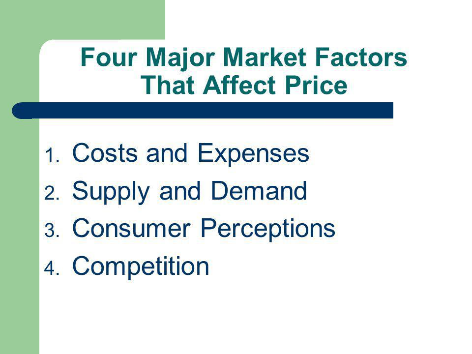 Four Major Market Factors That Affect Price