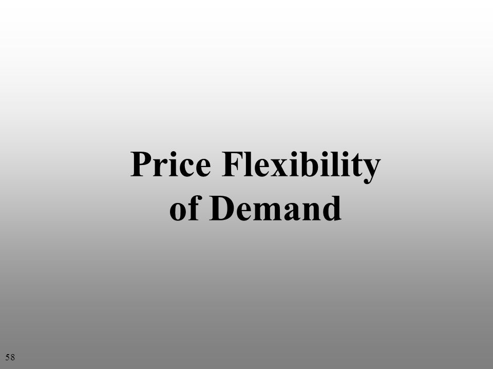 Price Flexibility of Demand