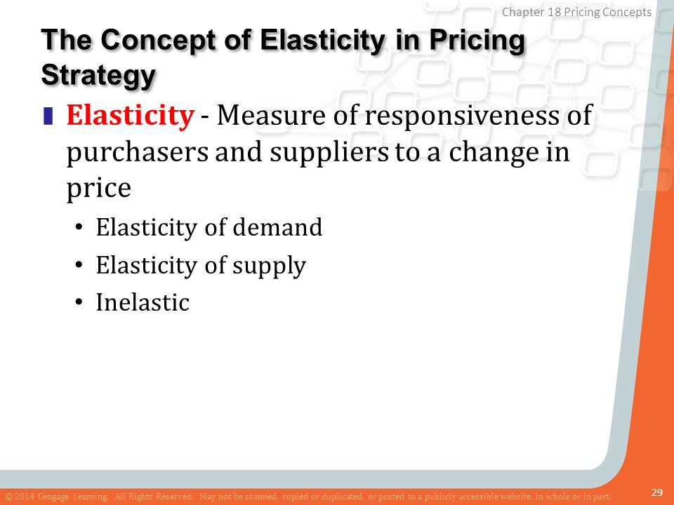 The Concept of Elasticity in Pricing Strategy