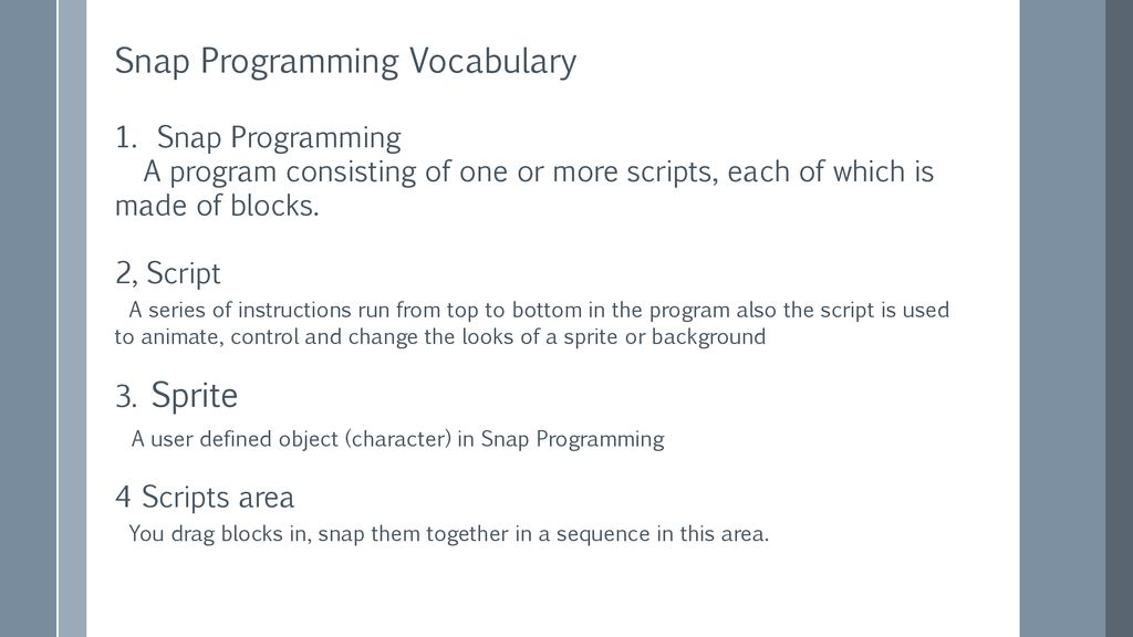 Introduction to Snap Programming - ppt download