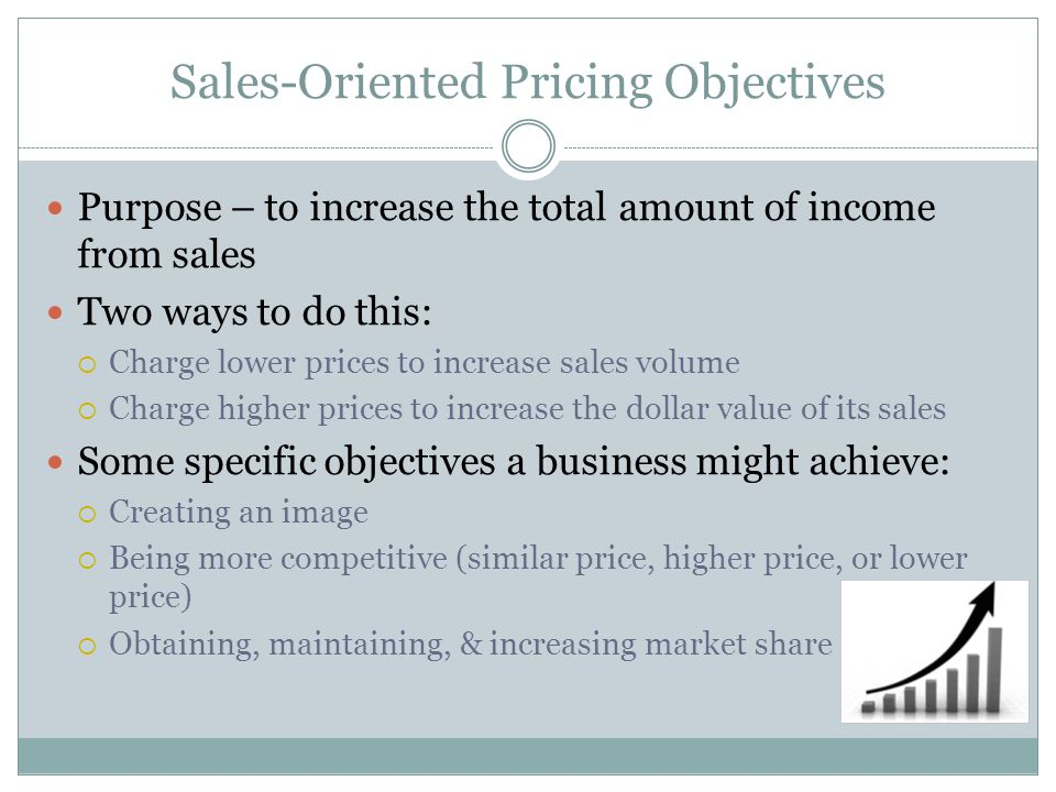 Sales-Oriented Pricing Objectives