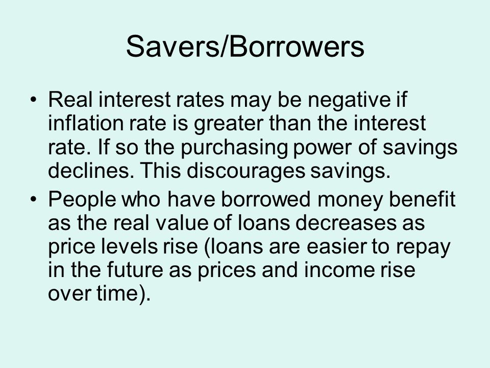 Savers/Borrowers