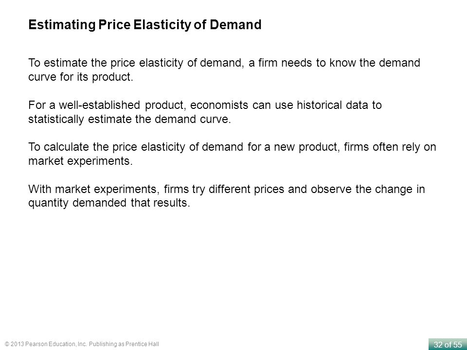 Estimating Price Elasticity of Demand