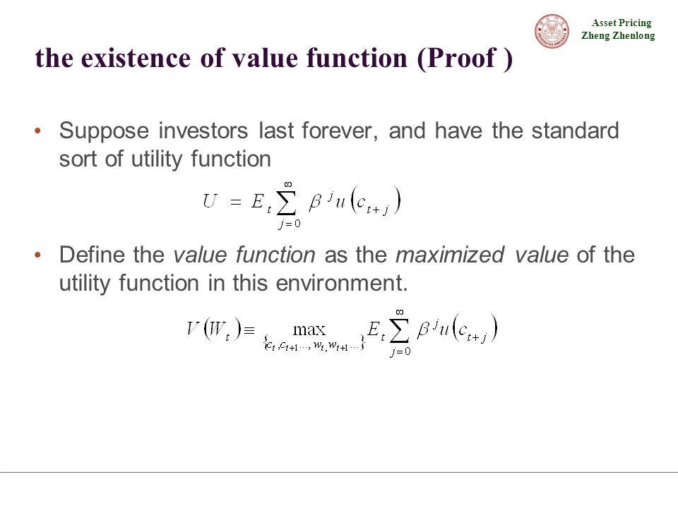 the existence of value function (Proof )