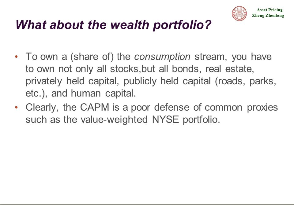 What about the wealth portfolio