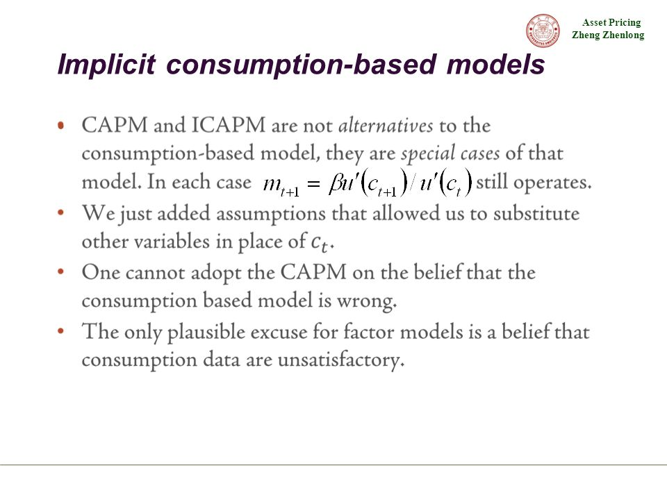 Implicit consumption-based models