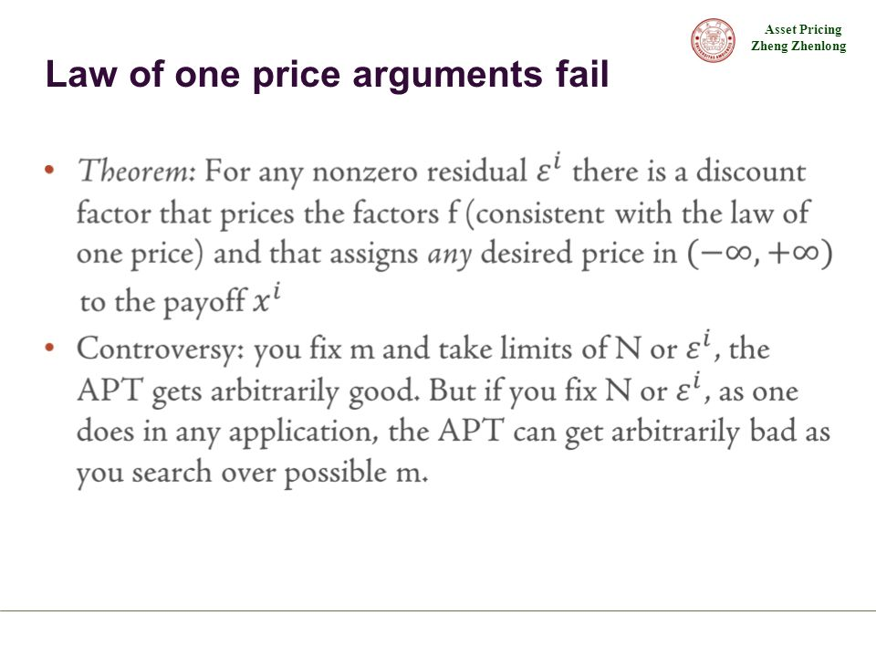 Law of one price arguments fail