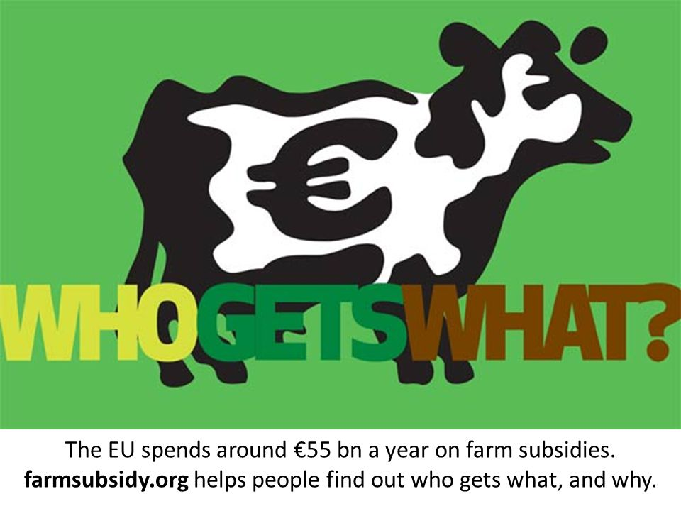 The EU spends around €55 bn a year on farm subsidies.