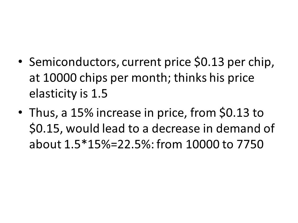 Semiconductors, current price $0