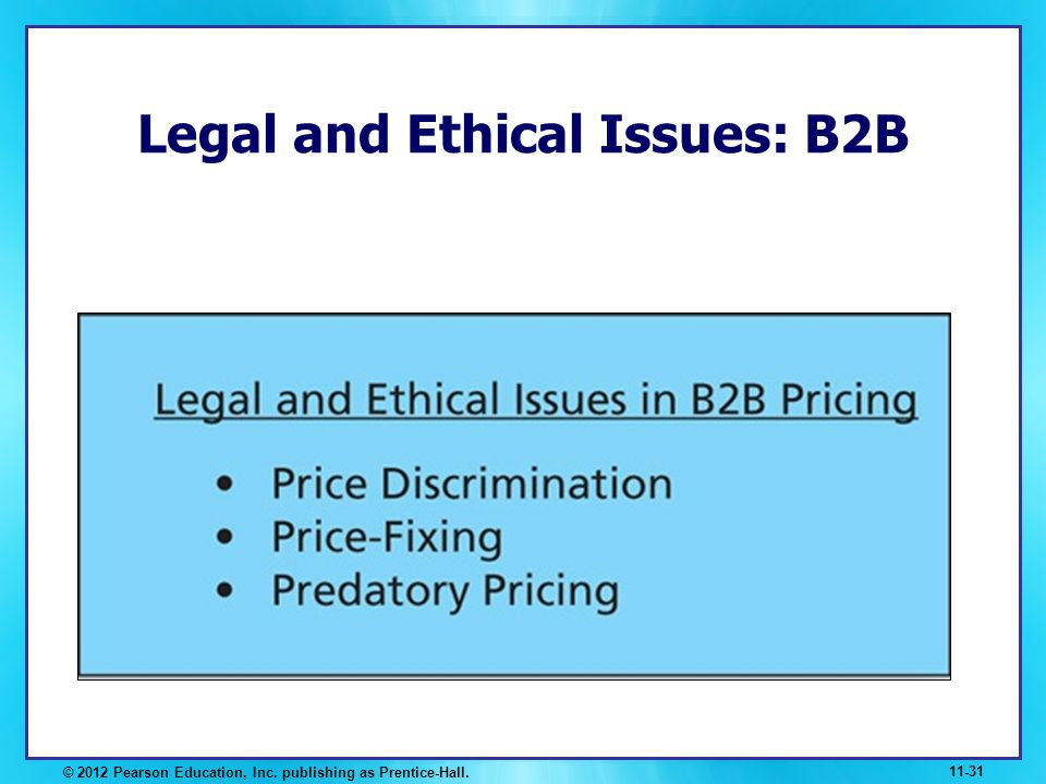Legal and Ethical Issues: B2B
