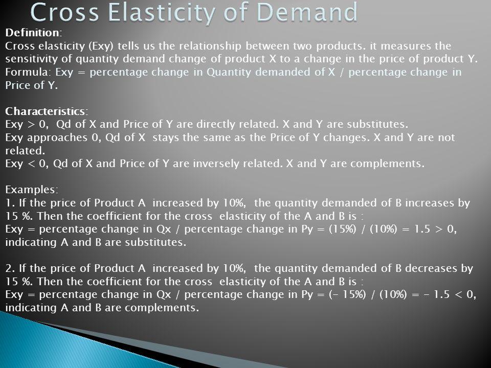 explain cross elasticity of demand