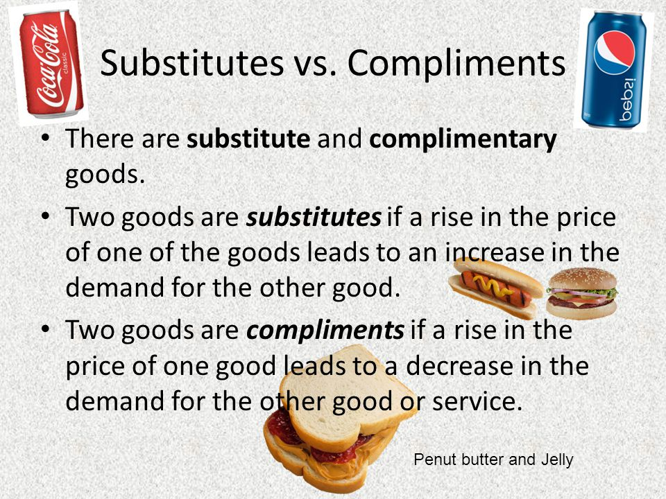 Substitutes vs. Compliments