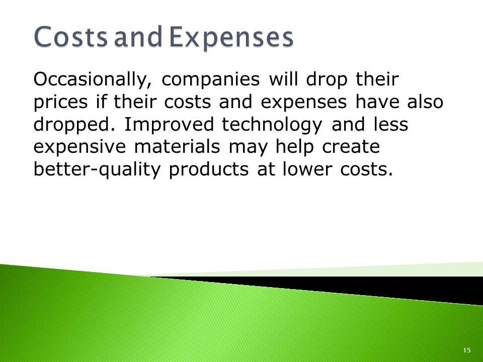 Costs and Expenses