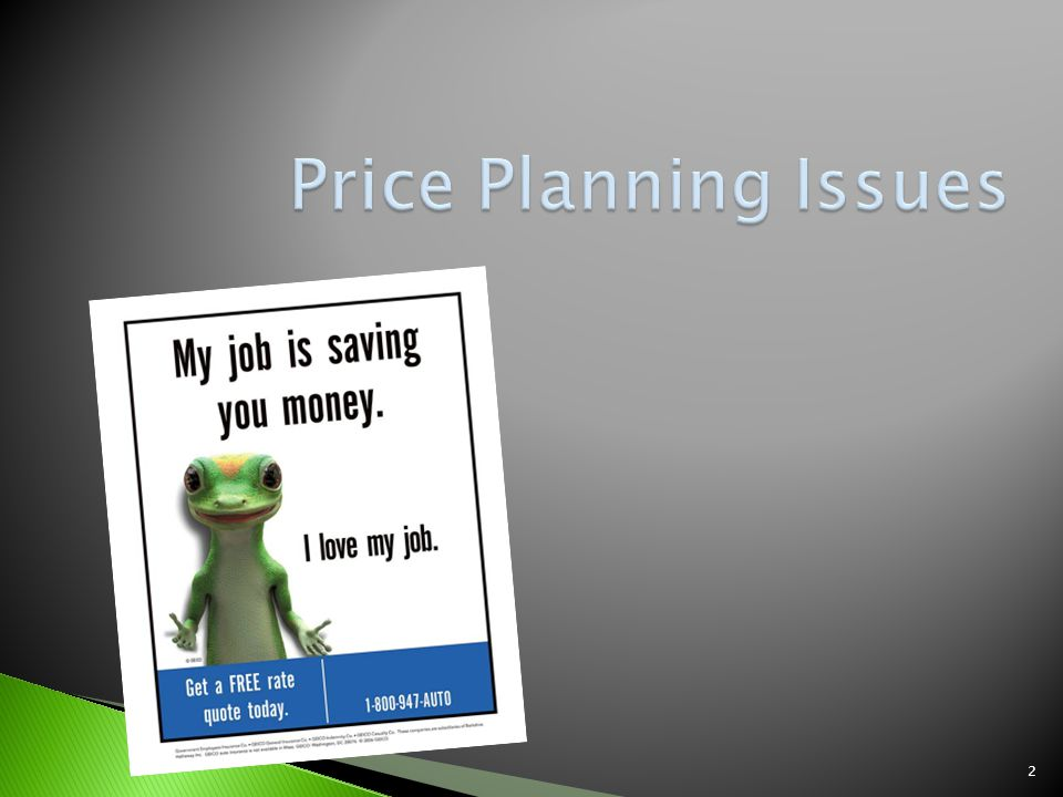Price Planning Issues
