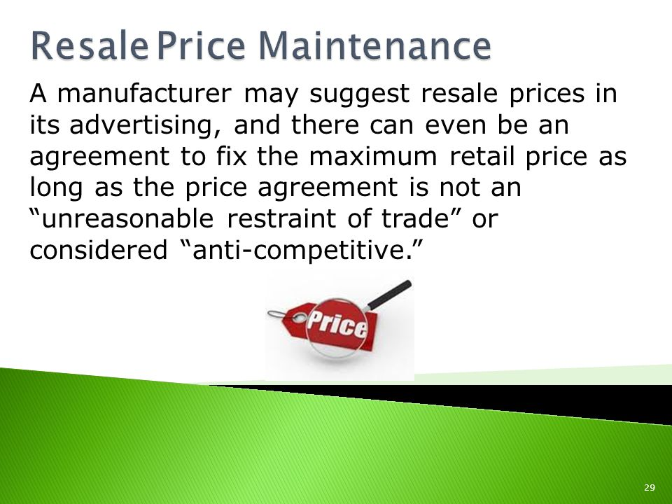 Resale Price Maintenance