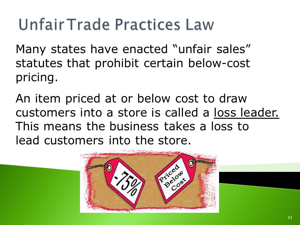 Unfair Trade Practices Law