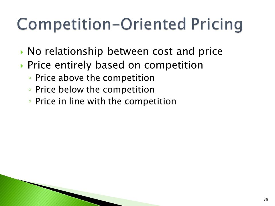 Competition-Oriented Pricing