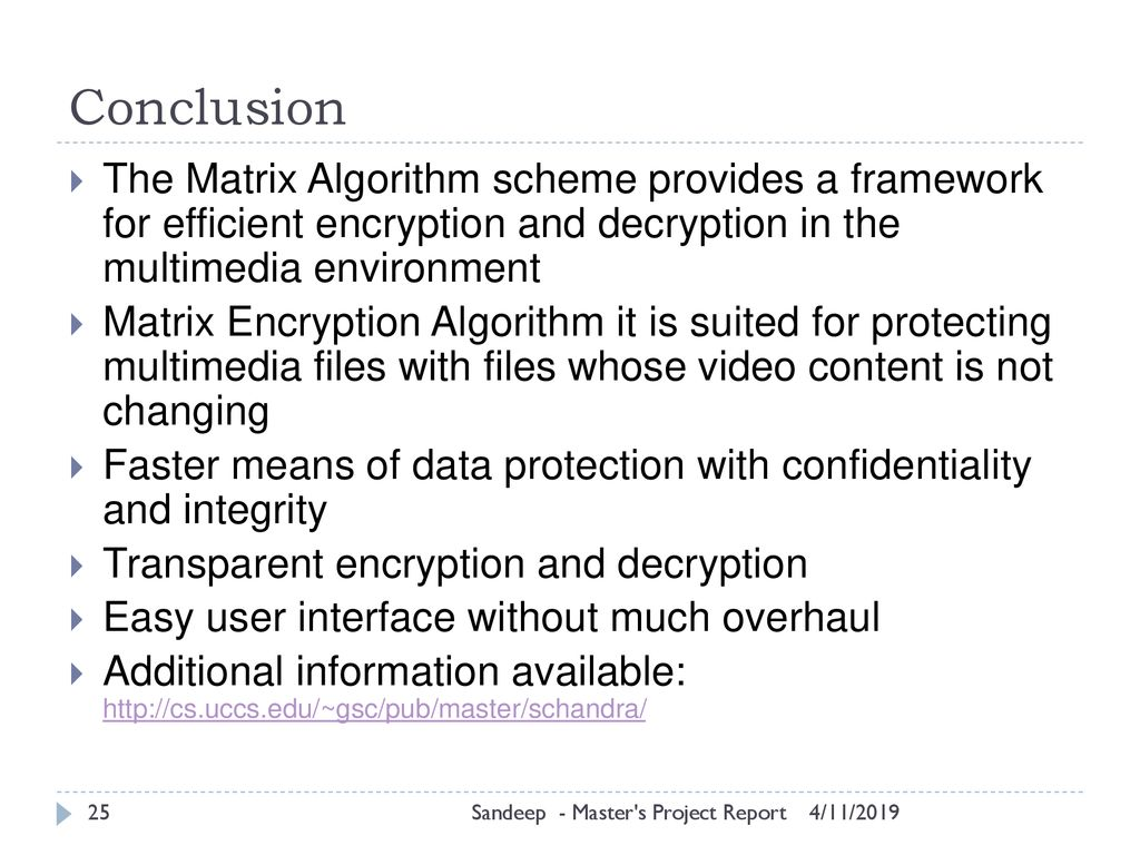 Matrix Encryption Algorithm for MP4 Audio and Video - ppt download