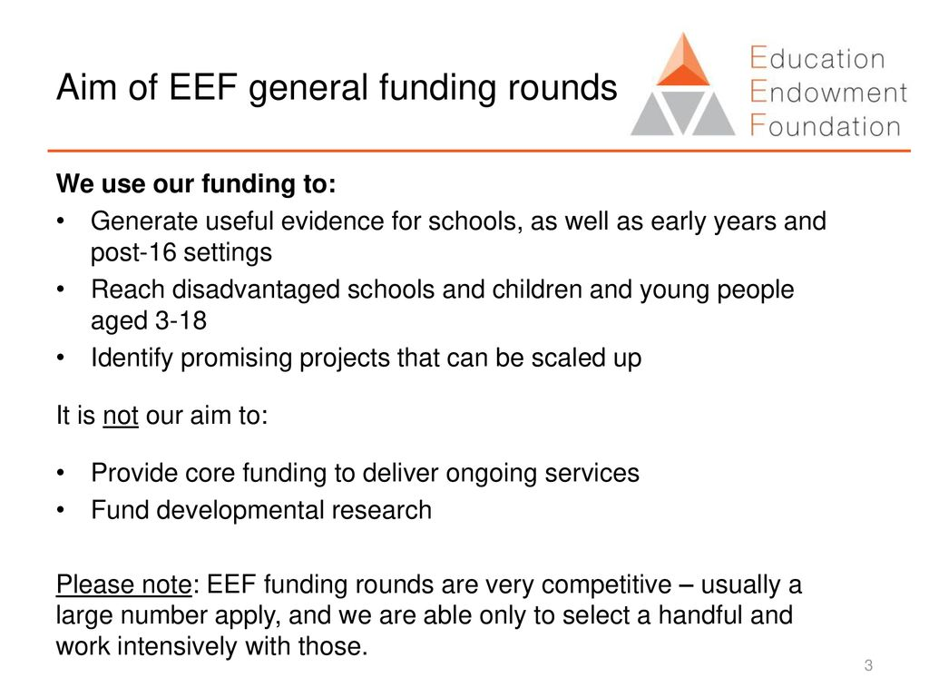 Applying to the EEF for funding: What are we looking for - ppt download