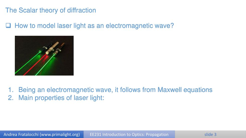 Scalar theory of diffraction - ppt download