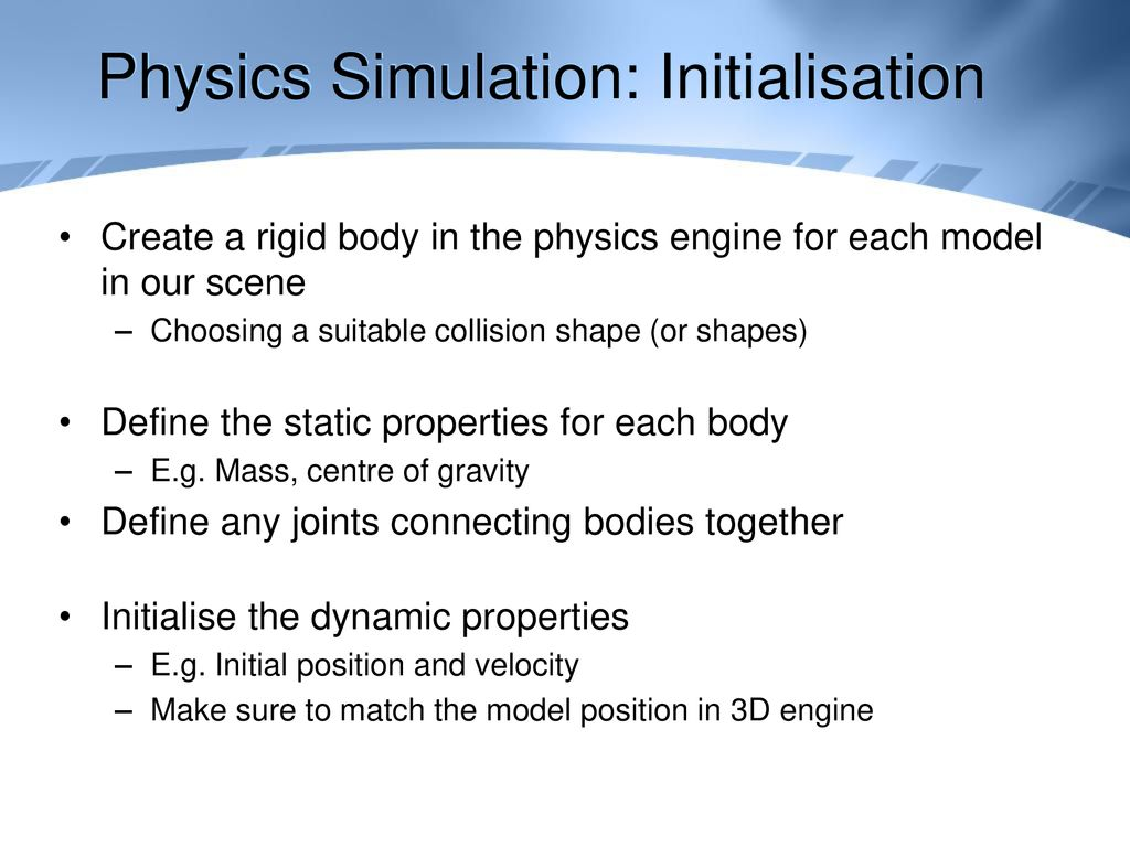 Advanced Games Development Game Physics - ppt download