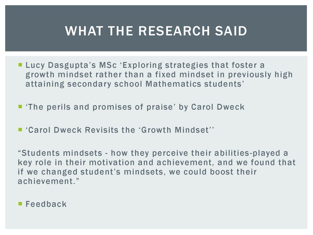 Carol Dweck Revisits Growth Mindset >> Which Subjects Are You Bad At Ppt Download