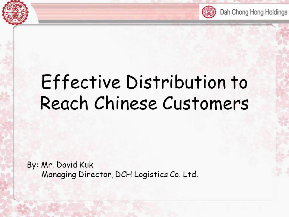 Effective Distribution to Reach Chinese Customers