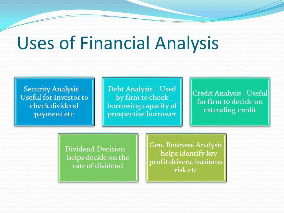 Uses of Financial Analysis
