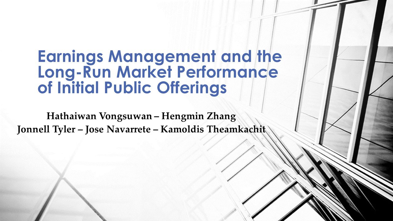 Earnings Management and the Long-Run Market Performance of Initial Public Offerings